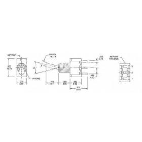 Chave Alavanca 3 Posições 1 Pólo 3 Terminais MTS103 6A (On-Off-On)