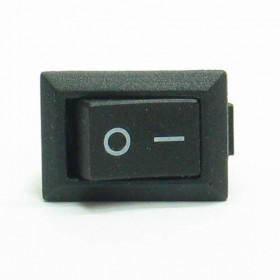 Mini Chave Gangorra Preta 3 Terminais KCD11-102