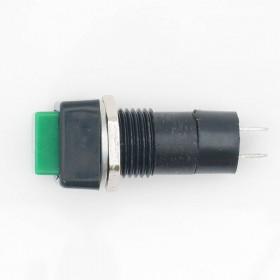 Chave Botão Quadrado NA sem Trava Verde PBS-12B 3A 250V 2 Terminais