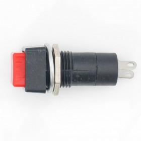 Chave Botão Quadrado NA sem Trava Vermelho PBS-12B 3A 250V 2 Terminais