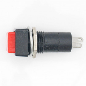 Chave Botão Quadrado com Trava Vermelho PBS-12A 3A 250V 2 Terminais