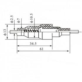 Porta Fusível 6x30mm Meio de Fio F103C