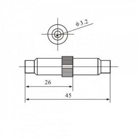 Porta Fusível 20AG 5x20mm Meio de Fio F103C