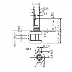 Potenciômetro Multivoltas 10 Voltas 1k 3590S
