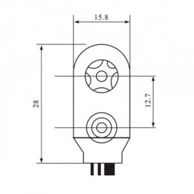 Clip Suporte para Bateria 9V 6F22 Tipo I