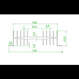 Dissipador de Alumínio RK11 40mm