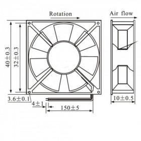Ventilador Fan 12V 40*40*10mm