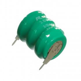 Bateria Recarregável NiCd 3,6V 60mAh para Placa 2 Terminais