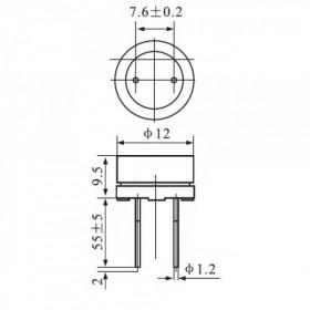 Buzzer Contínuo 6V 12mm com Oscilador Beep
