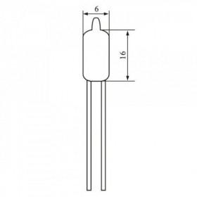 Chave de Mércurio 6x19mm 0,8A Sensor de Inclinação