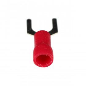 Terminal Forquilha Pré Isolado Vermelho 0,5-1,5mm² Furo 6,5mm