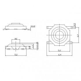 Chave Tactil SMD 4 Terminais KFC-004A 4x4x1,5mm 180°