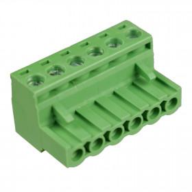 Conector Borne Fêmea Verde 6 Vias KF2EDGK-5.08 Passo 5,08mm