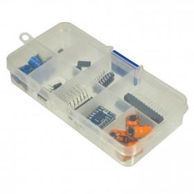 Caixa Organizadora Plástica Transparente 10 Divisórias 22*130*64mm