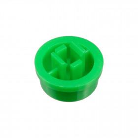 Botão Redondo Verde para Chave Tactil 12x12x7,3mm