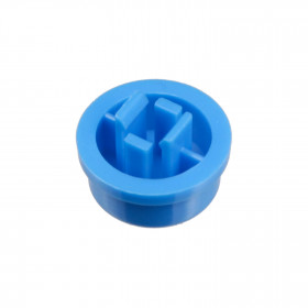 Botão Redondo Azul para Chave Tactil 12x12x7,3mm