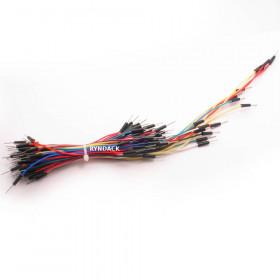 Kit 65 Jumpers para Protoboard Macho Macho Cores Sortidas