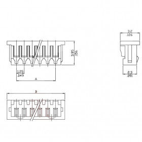 Conector Alojamento 2 Vias Pico Blade 1,25mm