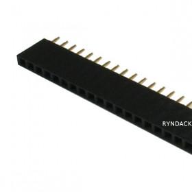 Barra de Pinos Fêmea 1x40 Passo 2,54mm (MCI)