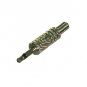Plug P2 Mono Metálico Prateado com Mola