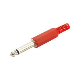 Plug P10 Mono Vermelho Plástico