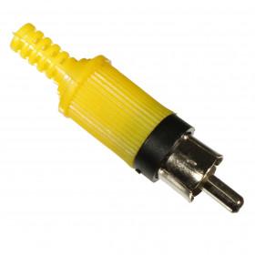 Plug RCA Macho Amarelo com Rabicho Rígido