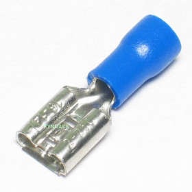Terminal Faston Fêmea Pré Isolado Azul 1,5-2,5mm²