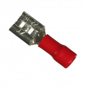 Terminal Faston Fêmea 6,3mm Pré Isolado Vermelho 0,5-1,5mm²