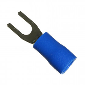 Terminal Forquilha Pré Isolado Azul 1,5-2,5mm² Furo 3,2mm