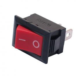 Chave Gangorra Vermelha 2 Terminais KCD1-001