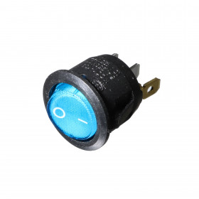 Chave Gangorra Azul Redonda com Neon 3 Terminais 2 Posições KCD1-5-101N
