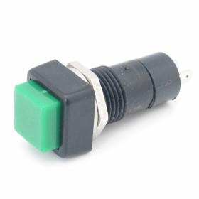 Chave Botão Quadrado com Trava Verde PBS-12A 3A 250V 2 Terminais