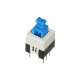 Chave Botão Push Button 7x7mm Azul