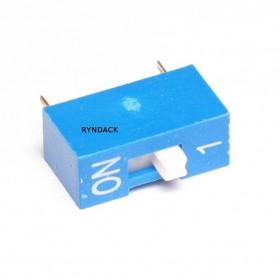 Chave Dipswitch 1 via 180° Azul