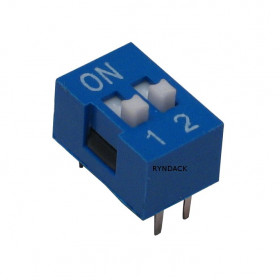 Chave Dipswitch 2 vias 180° Azul