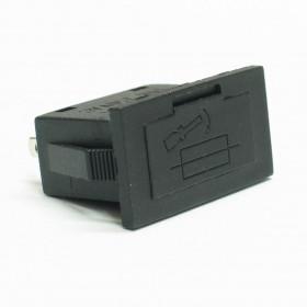 Porta Fusível 20AG 5x20mm 10A 250Vac Retangular para Painel BF-020