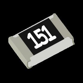 Resistor 150Ω 5% 1/8W SMD 0805 150R