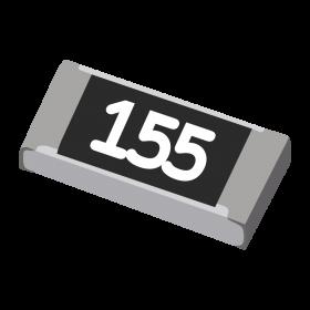 Resistor 1,5MΩ 5% 1/4W SMD 1206 1,5M 1M5