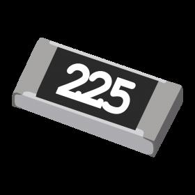 Resistor 2,2MΩ 5% 1/4W SMD 1206 2,2M 2M2