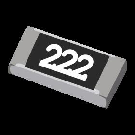 Resistor 2,2kΩ 5% 1/4W SMD 1206 2,2k 2k2