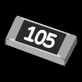 Resistor 1MΩ 5% 1/4W SMD 1206 1M
