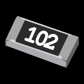 Resistor 1kΩ 5% 1/4W SMD 1206 1k