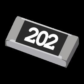 Resistor 2kΩ 5% 1/4W SMD 1206 2k