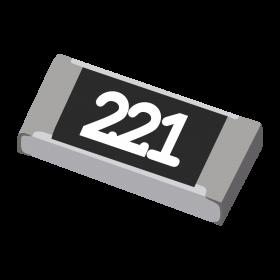Resistor 220Ω 5% 1/4W SMD 1206 220R