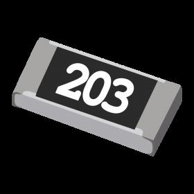 Resistor 20kΩ 5% 1/4W SMD 1206 20k