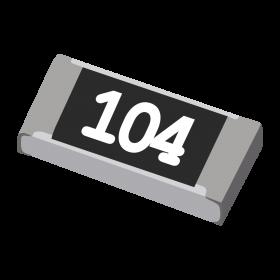 Resistor 100kΩ 5% 1/4W SMD 1206 100k