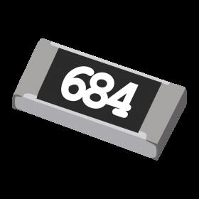Resistor 680kΩ 5% 1/4W SMD 1206 680k