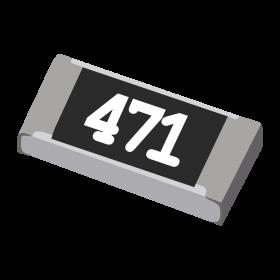 Resistor 470Ω 5% 1/4W SMD 1206 470R