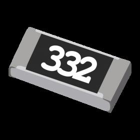 Resistor 3,3kΩ 5% 1/4W SMD 1206 3,3k 3k3
