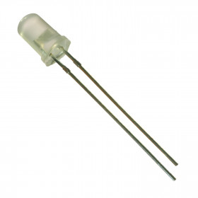 Led Verde 5mm Difuso Leitoso 2000mCD 515-520nm